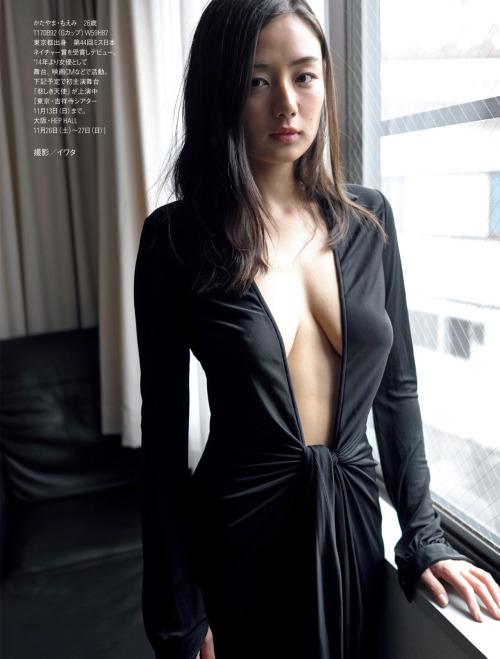 片山萌美 Gカップ! 写真集Rashin裸芯の透け乳首!大乳輪の画像12