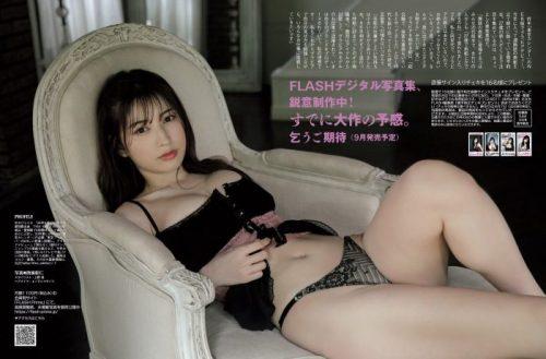 雪平莉左の巨乳おっぱいと細くくびれたウエストと大きくてボリュームのある美しいお尻のグラビア画像9